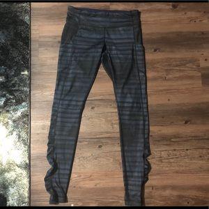 Lululemon blue striped leggings